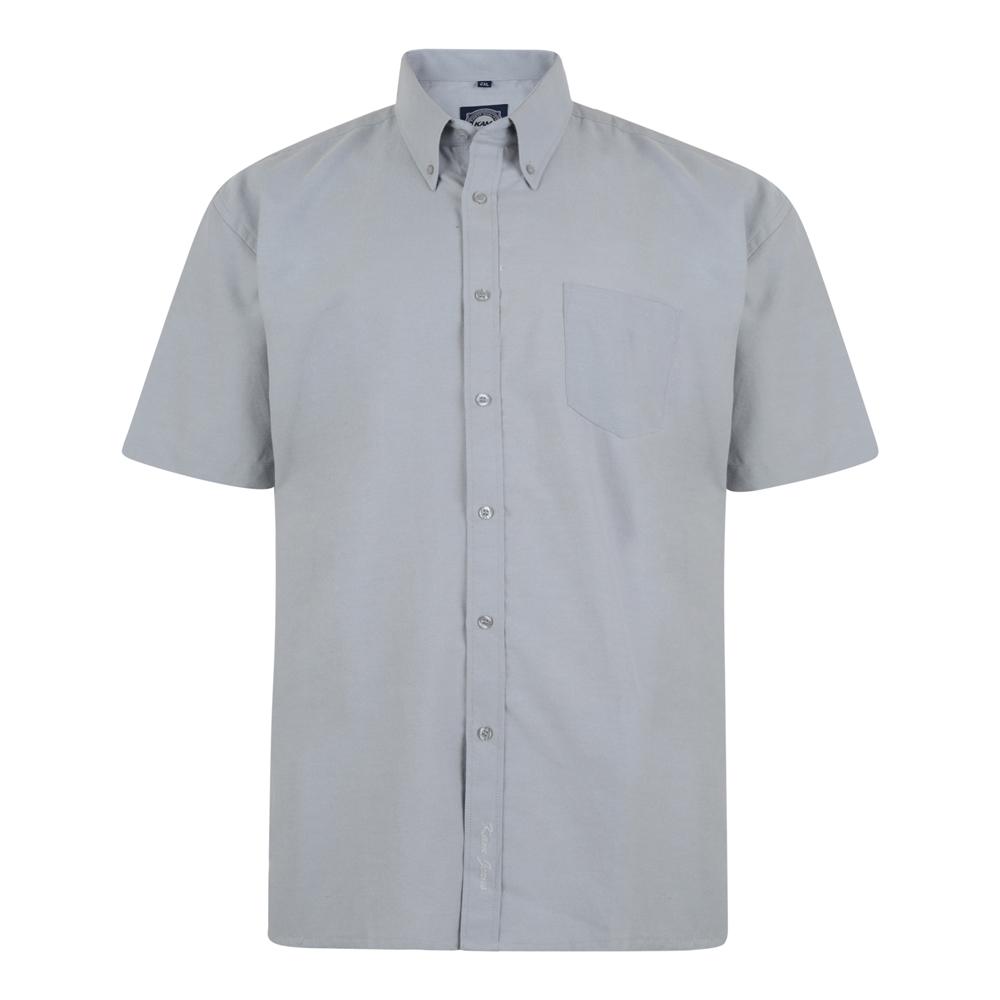 Overhemd van KAM in de kleur grijs. Korte mouwen.