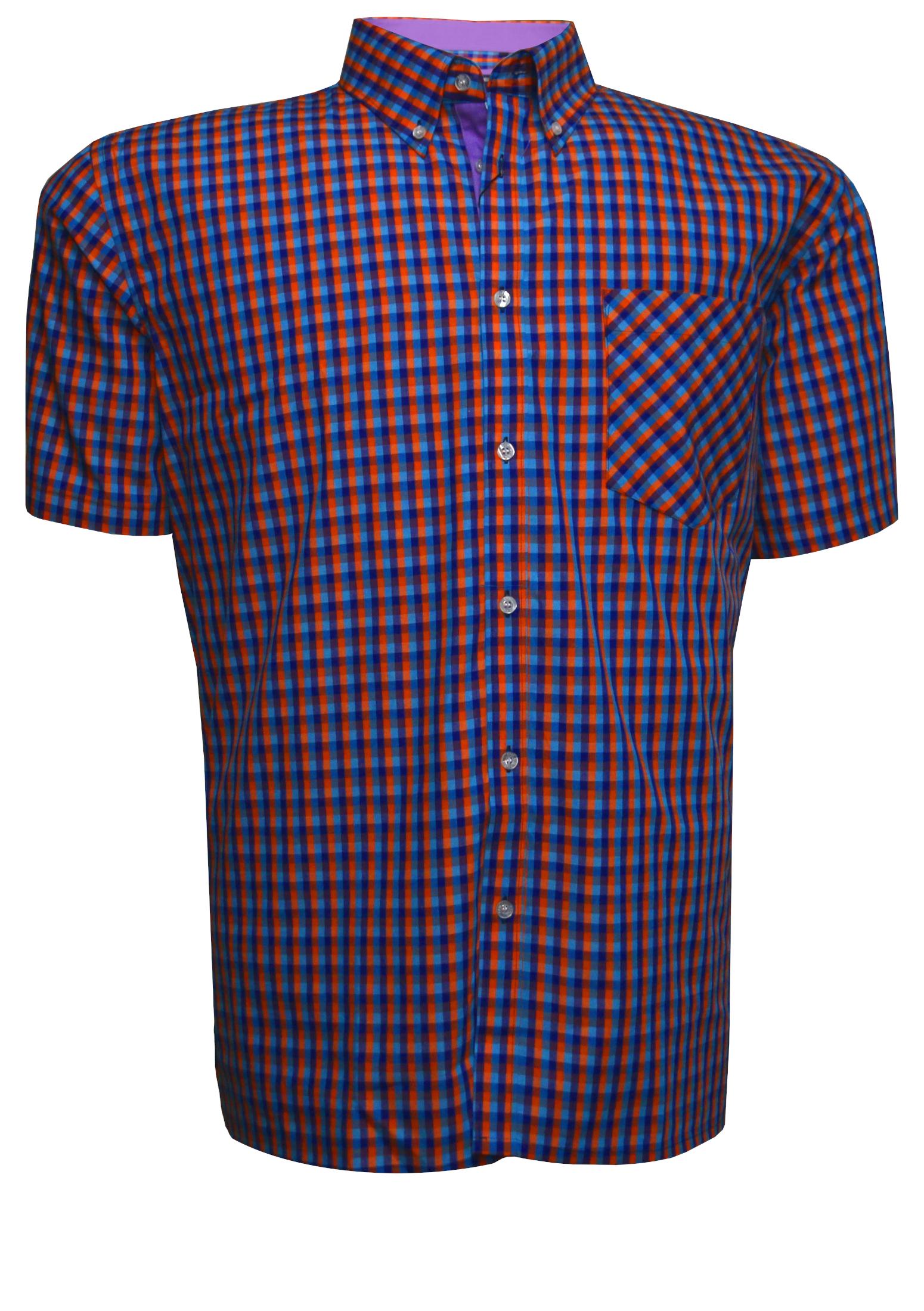 Geblokt Overhemd.Kam Overhemd Vintage Collection 2xl 7xl Rood Bestel Nu Bij