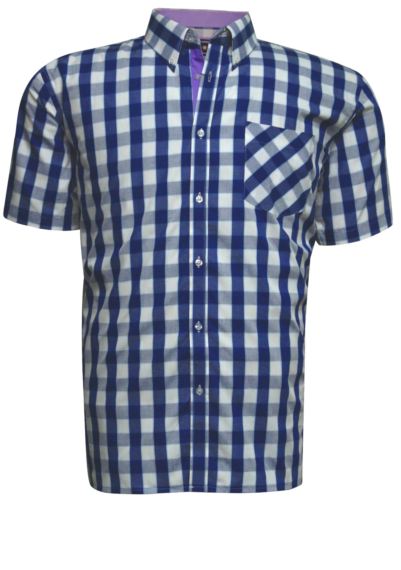Geblokt Overhemd.Kam Overhemd Vintage Collection 2xl 8xl Blauw Bestel Nu Bij