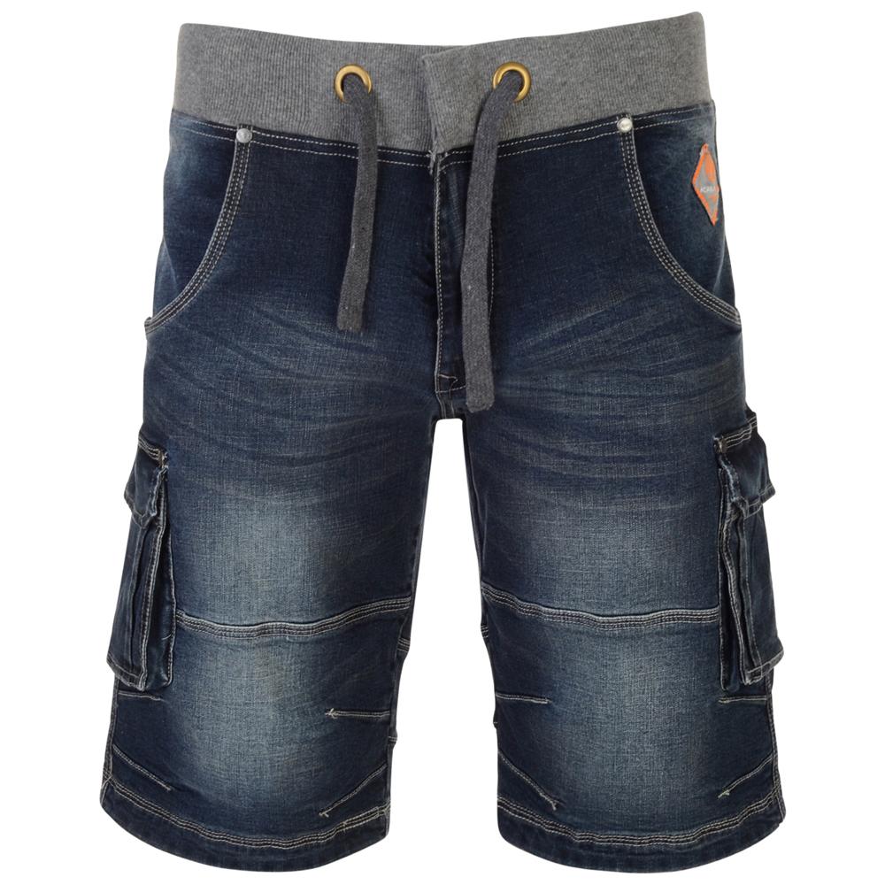Short van KAM met diepe zakken en grijze elastische band om je middel.