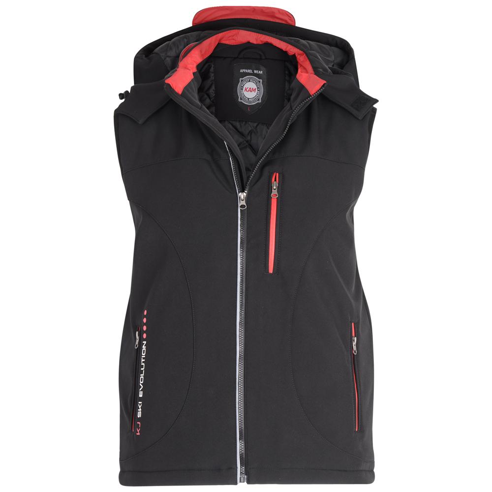 Mooie gewatteerde bodywarmer van KAM Jeanswear met twee zijzakken met rits en een afsluitbare borstzak.