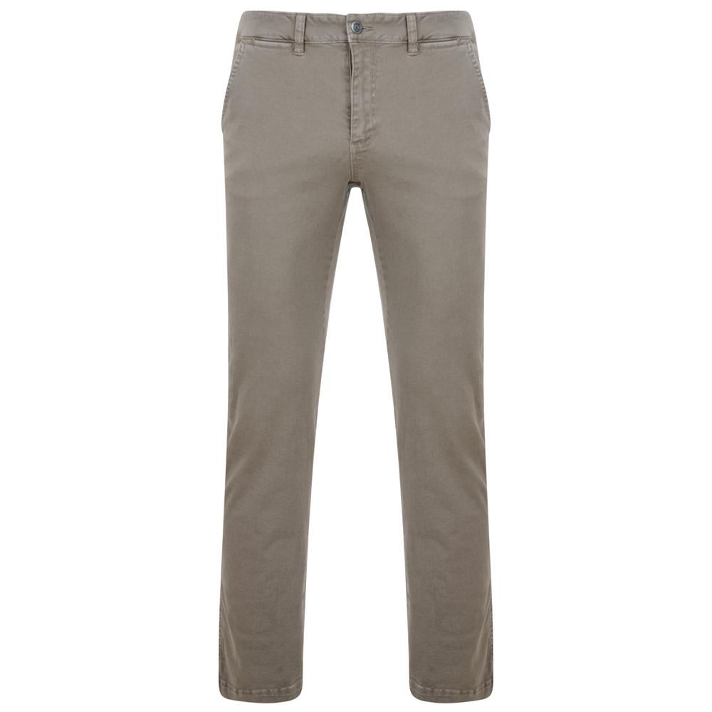 Premium chino-broek. Stretch voor extra comfort - ritssluiting - zij- en achterzakken.