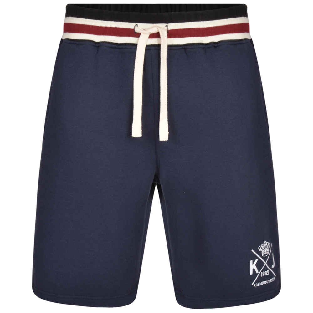 Jogging short van KAM in de kleur navy/blauw.