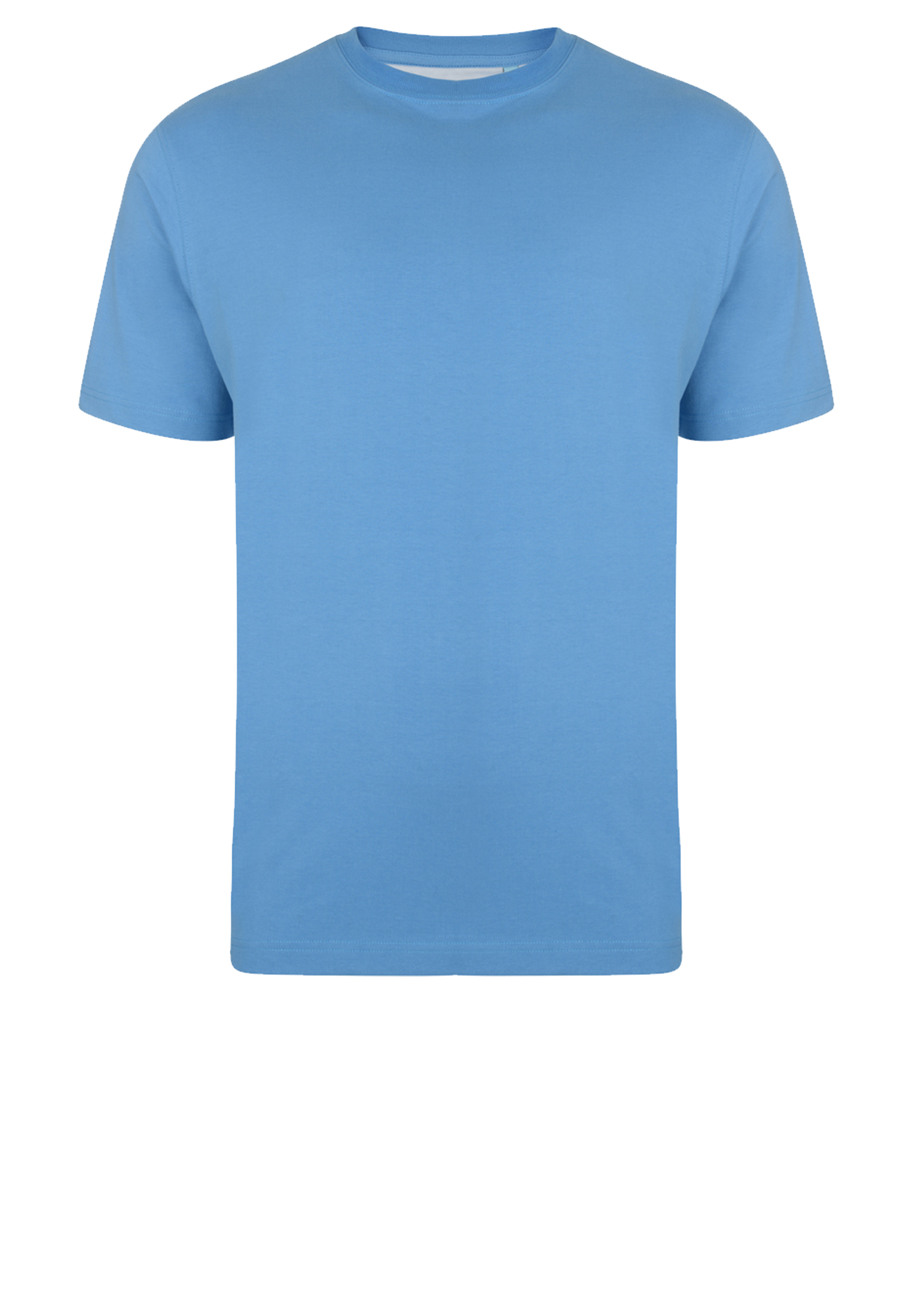 KAM JEANSWEAR effen kleur t-shirt met ronde hals in de kleur licht blauw.