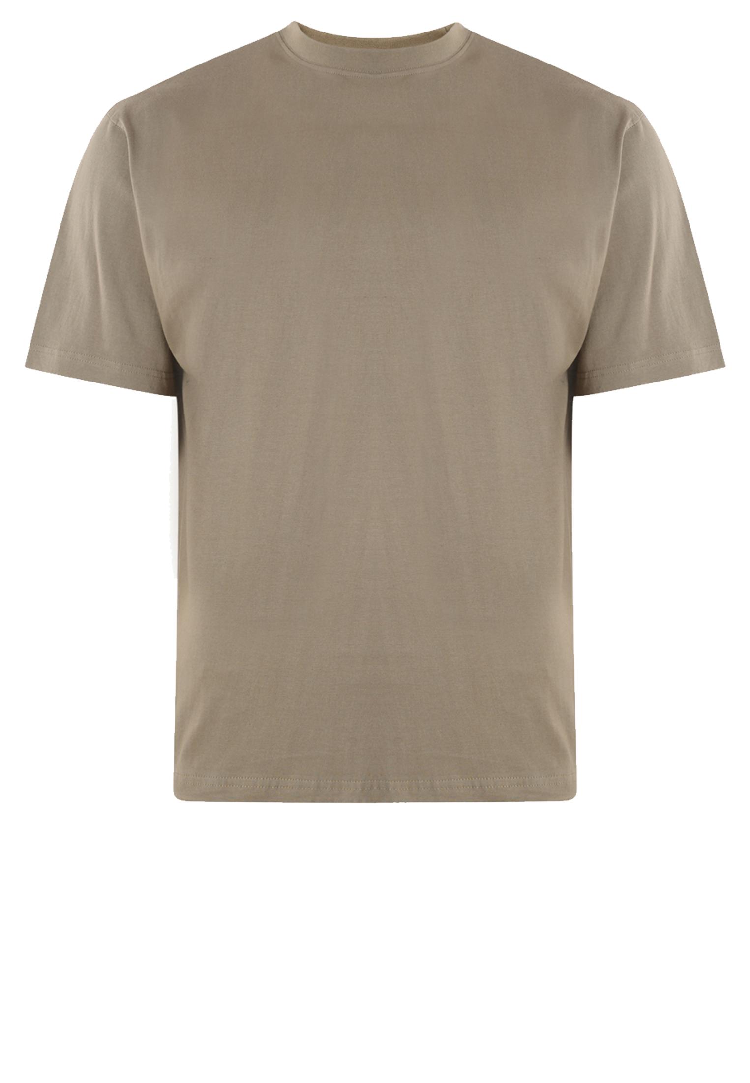 KAM JEANSWEAR effen kleur t-shirt met ronde hals in de kleur olijf groen.