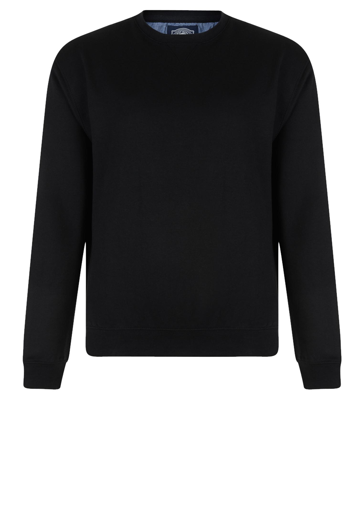 Modieuze KAM JEANSWEAR sweater met ronde hals in de kleur zwart.