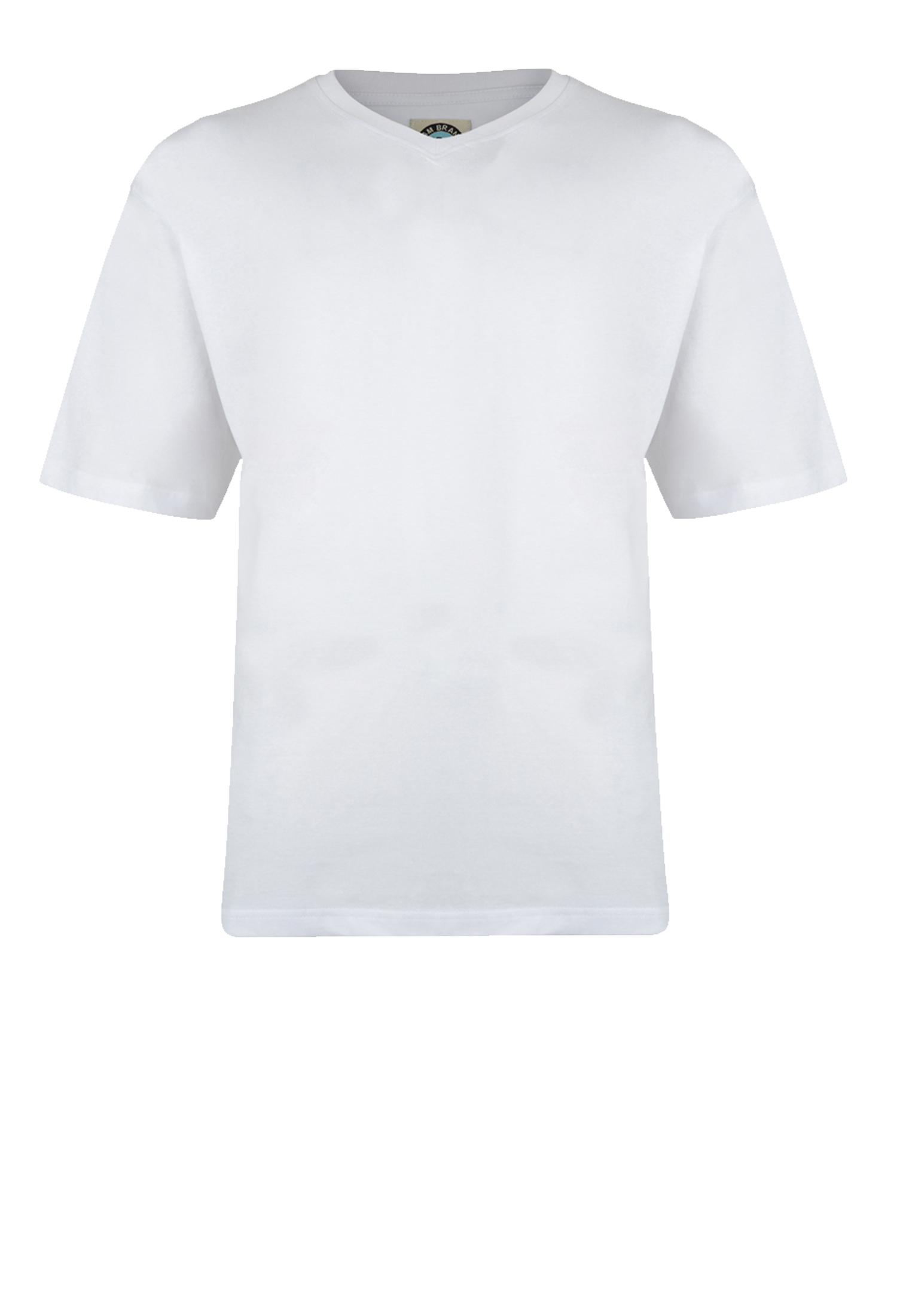 T-shirts van KAM JEANSWEAR met V hals in de kleur wit. Gemaakt van zacht katoen voor optimaal draagcomfort.