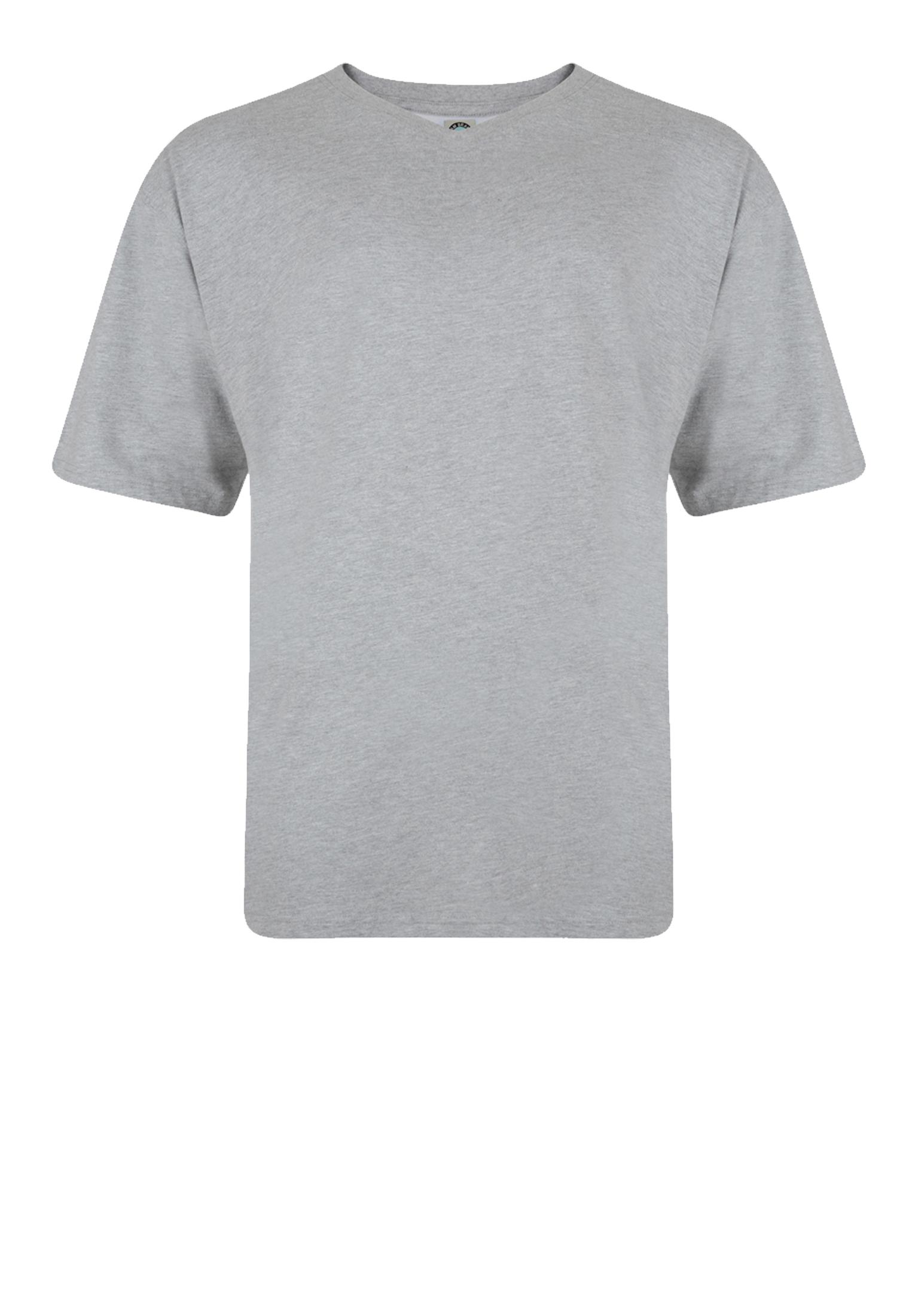 T-shirts van KAM JEANSWEAR met V hals in de kleur grijs. Gemaakt van zacht katoen voor optimaal draagcomfort.