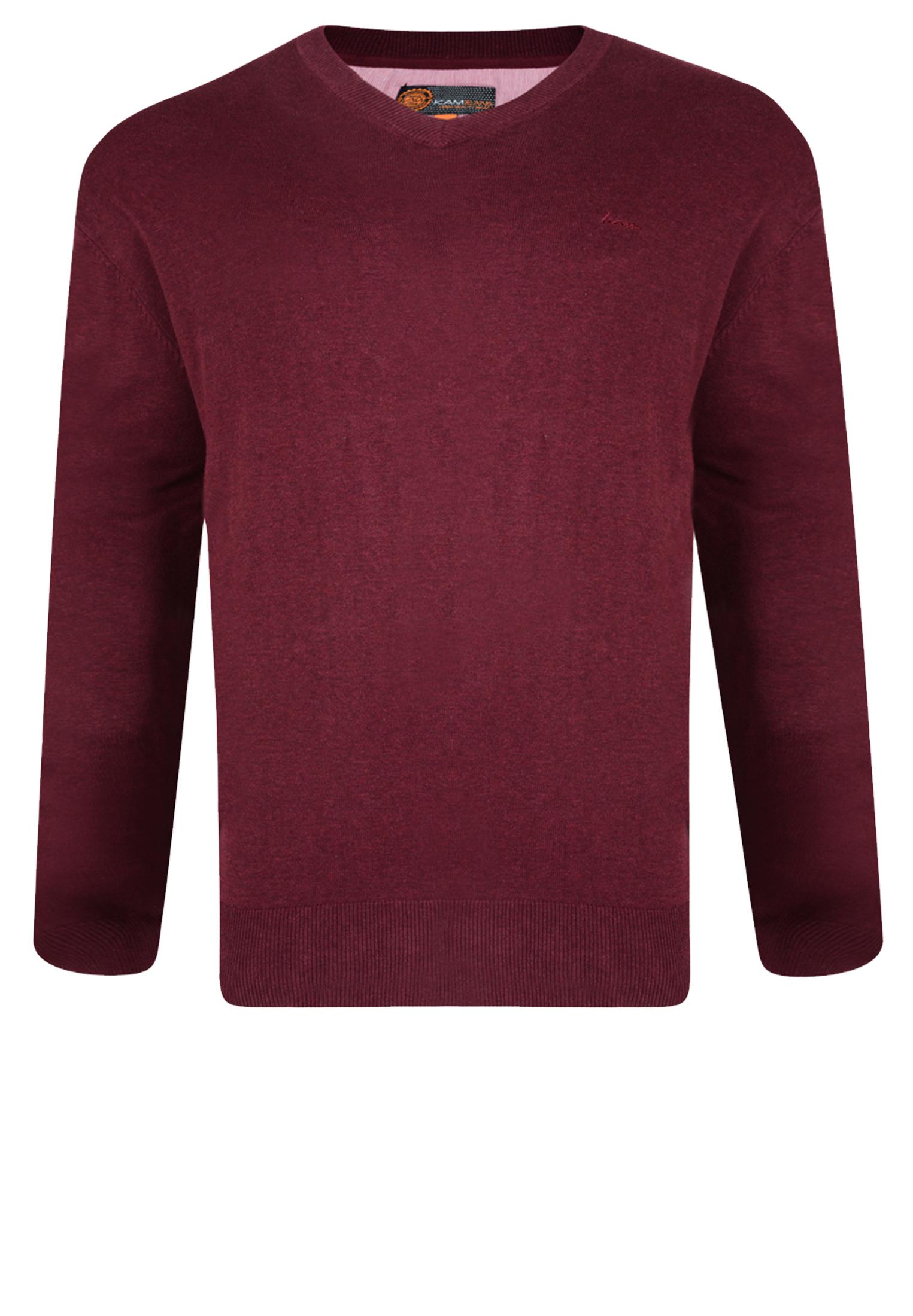 Fijn gebreide lichtbruine effen trui van KAM JEANSWEAR met V-hals. Deze dunne trui heeft een elastische tailleband wat zorgt voor een mooie pasvorm. Dit multifunctionele artikel kan casual op een spijkerbroek gedragen worden of zakelijk over een overhemd op een pantalon. Een heerlijke comfortabele trui om te dragen.