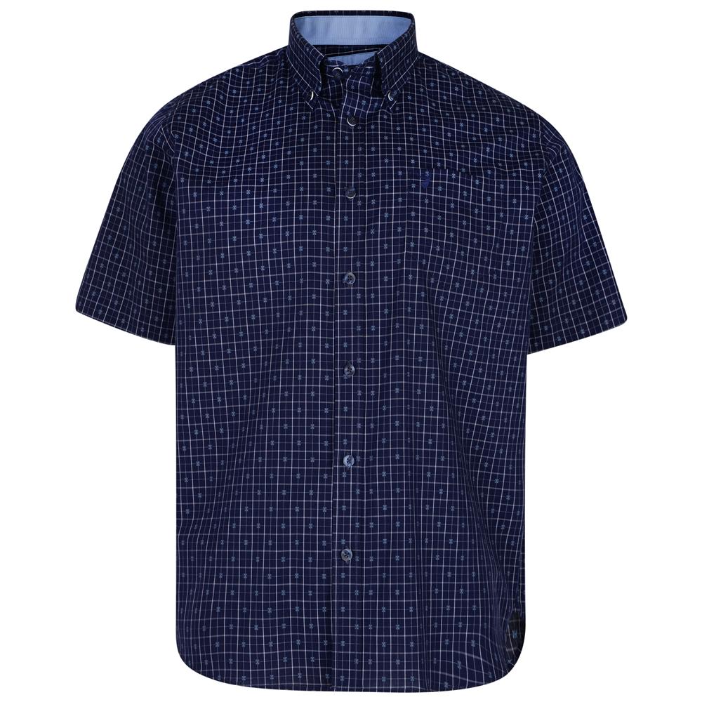 Overhemd van KAM in de kleur blauw. Korte mouwen.