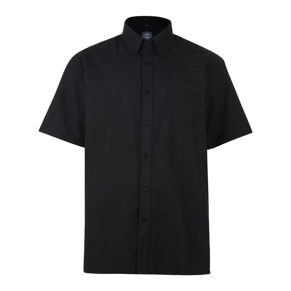 Overhemd van het merk KAM in de kleur zwart. Korte mouwen.