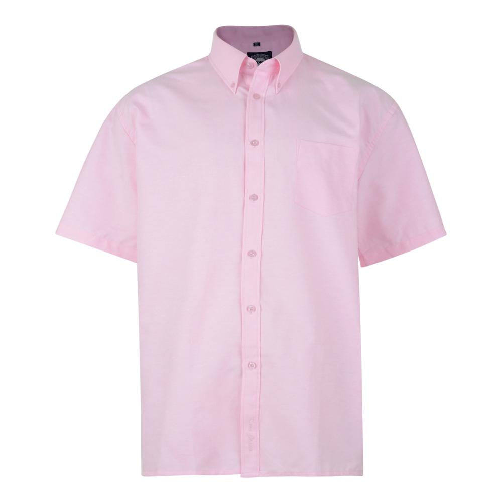 Overhemd van KAM in de kleur roze. Korte mouwen.