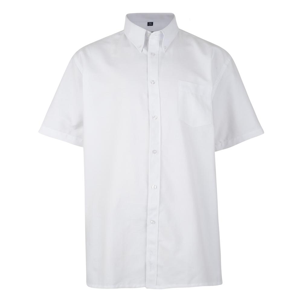 Overhemd van KAM in de kleur wit. Korte mouwen.