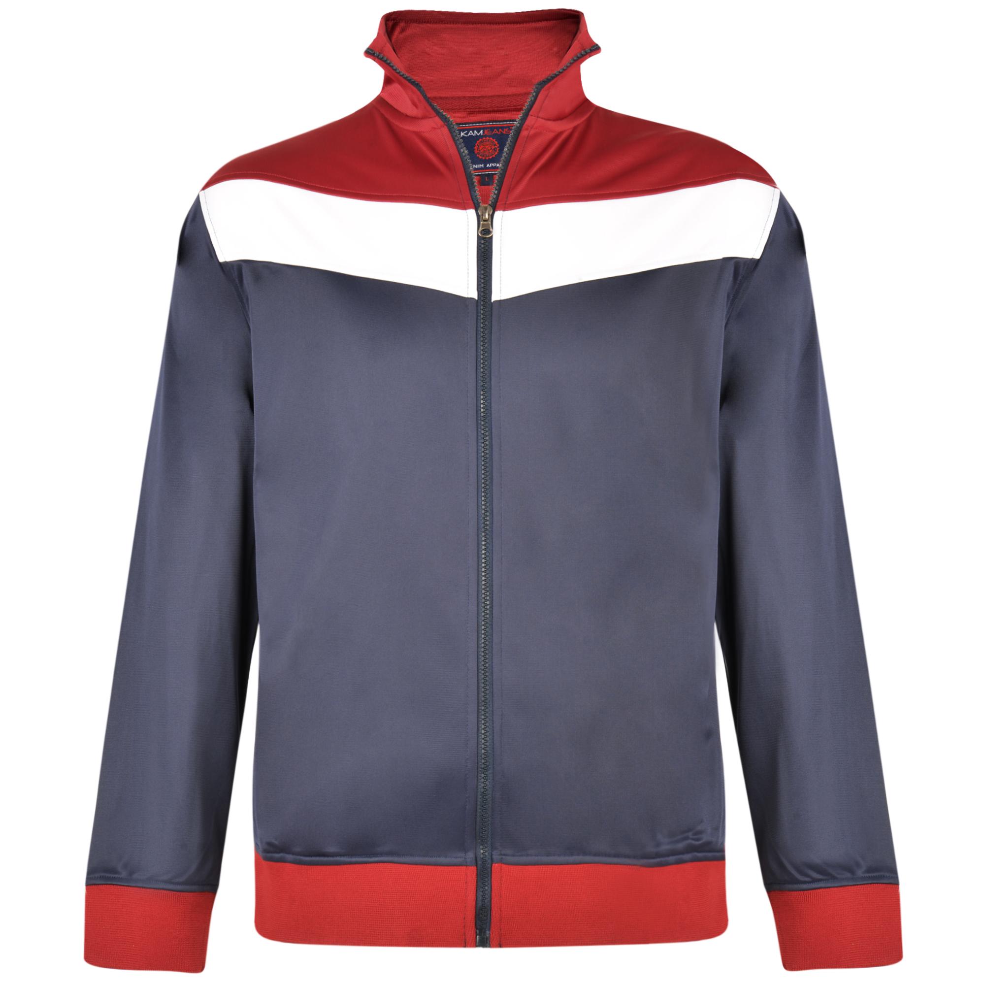 Tricot sport top van merk KAM Jeanswear in de kleur navy, gemaakt van polyester.
