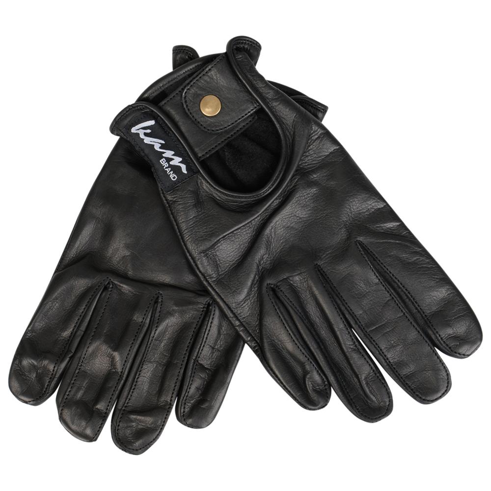 Driving Gloves, handschoenen van merk KAM Jeanswear in de kleur zwart, gemaakt van echt leer. Fijne handschoenen voor de cabriolet of op de motor, finest quality real leather.