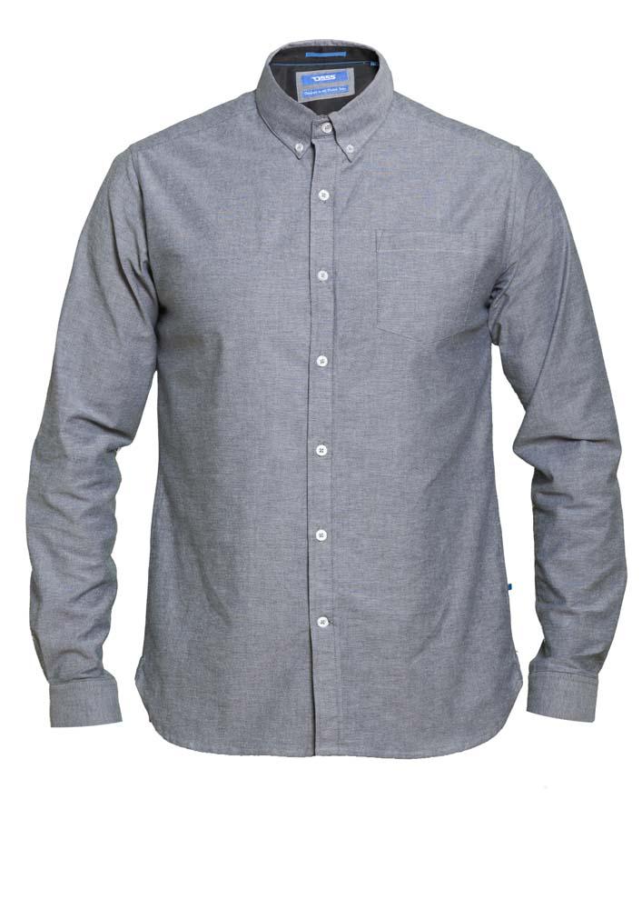 """overhemd """"Nebraska"""" van merk D555 in de kleur grijs, gemaakt van 100% katoen."""