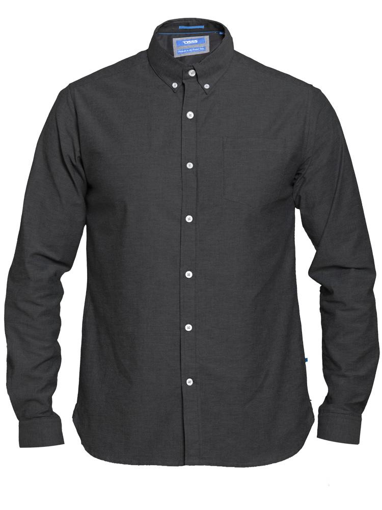 """Overhemd """"Nebraska"""" van merk D555 in de kleur navy, gemaakt van 100% katoen."""
