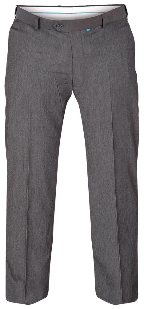 D555 donker grijze elegante stretch pantalon met knoop - haaksluiting en riemlussen, een mooi weg gewerkte elastische tailleband, 2 steekzakken aan de voorzijde en 2 zakken met knoopsluiting aan de achterkant.Beschikbare lengte: 33 Inch