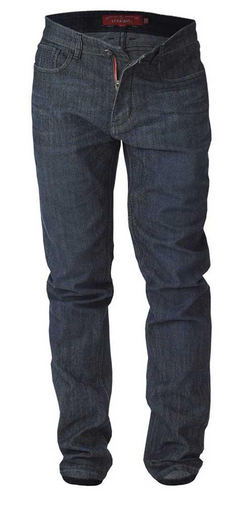 """Jeans """"Cadman"""" van merk D555 in de kleur dark vintage, gemaakt van cotton-poly. Bijzonder comfortabele stretch stof door de toepassing van een mix van katoen en polyester/elastaan. Valt laag op de taille, vanaf het zitvlak enigszins getailleerd en loopt taps toe van de knie tot de zoom. Let op; kortere beenlengte! (Zie de maattabel.) TIP: Bij een stretch jeans kun je meestal wel een maat kleiner bestellen als bij een normale spijkerstof. Er is ook een iets langere beenlengte beschikbaar: Jeans """"Cadman"""" beenlengte 32 inch (82 cm)"""