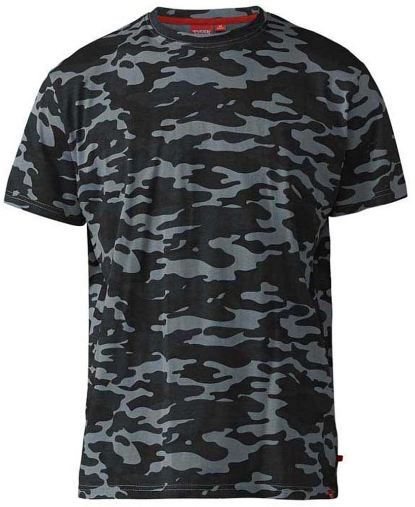 """camouflage T-Shirt """"Gaston"""" van merk D555 in de kleur camouflage groen, gemaakt van 100% katoen."""