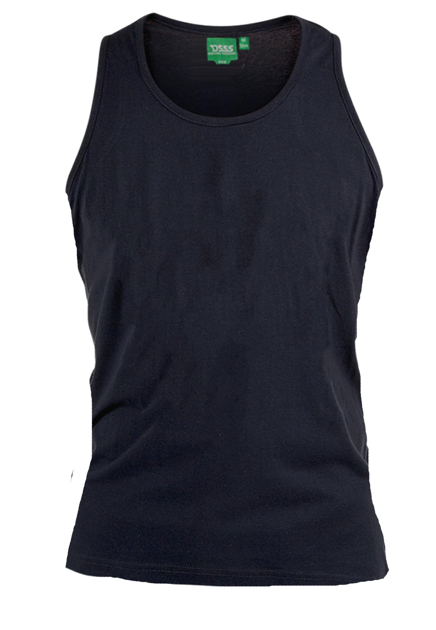 Basic effen tanktop van D555 met ronde hals. Zeer multifunctionele tanktop om te dragen, bijvoorbeeld onder overhemden, T-shirts en truien maar ook ideaal te dragen met de warme dagen, als loungewear of als pyjama shirt. LET OP! Het artikel valt ruim, dus u kunt gerust een maatje kleiner bestellen dan normaal.
