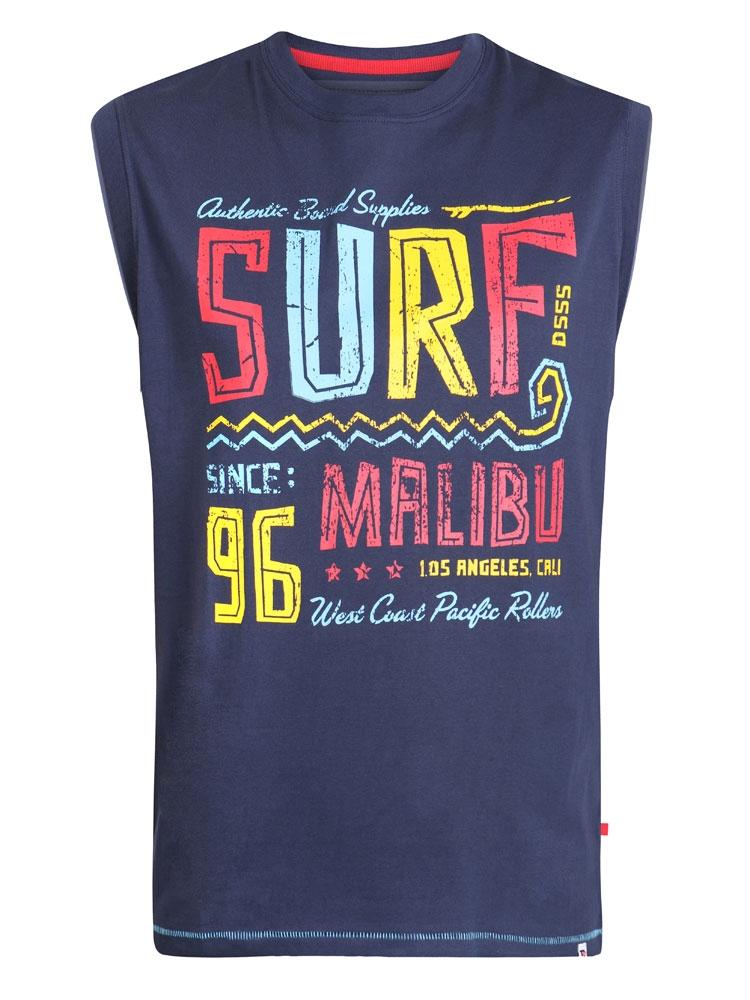 Tanktop - Hemdshirt met Surf print
