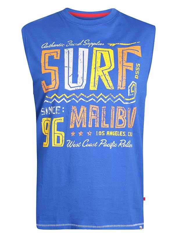 Surf tanktop. Hemdshirt met malibu surf tekst print